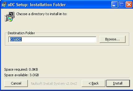 oDC Installation Folder