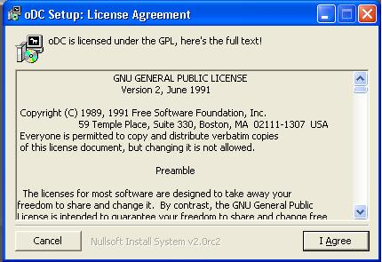 oDC License Agreement
